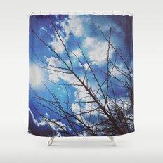 Thorns on blue Shower Curtain