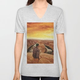 on top of canyonlands Unisex V-Neck
