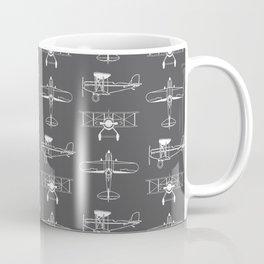 Biplanes // Charcoal Coffee Mug