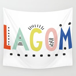 Lagom colors Wall Tapestry