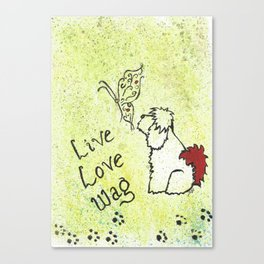 Live Love Wag Canvas Print