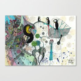 """""""Toucan and penguins"""" Canvas Print"""