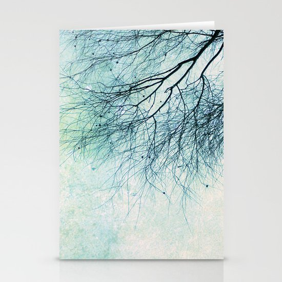 winter smooth Stationery Cards