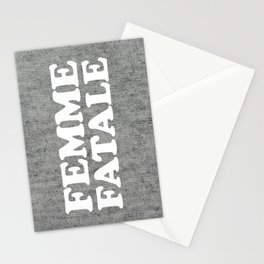 Femme Fatale Quote Stationery Cards