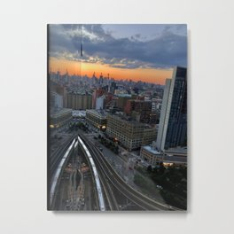 Skyline Mirror Sunset Metal Print