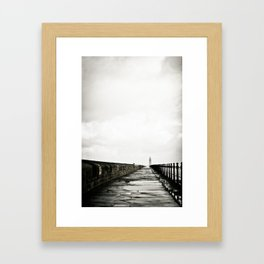 English Pier Framed Art Print