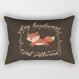 Dog Hardware Cat Software Rectangular Pillow