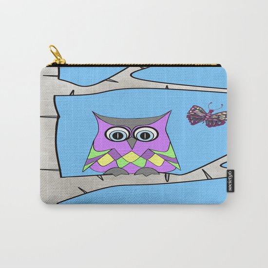 Spring Owl Carry-All Pouch