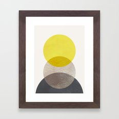 SUN MOON EARTH Framed Art Print