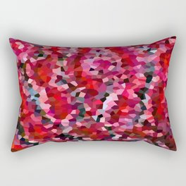 Mermaid Ruby Red Fish Tail Scales Rectangular Pillow