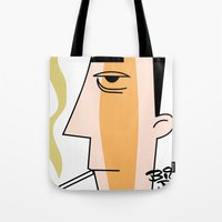 cigarettes Tote Bags featuring Cigarettes by Brian Sisson