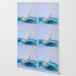 Sailboat Watercolor Wallpaper