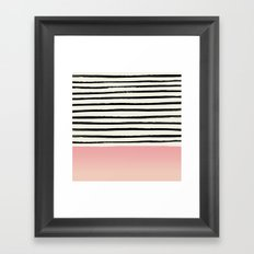 Blush x Stripes Framed Art Print