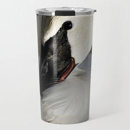 Elegant Trumpeter Swan Travel Mug