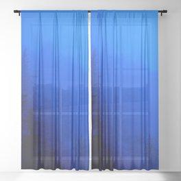 Blue Mist - Kenai Peninsula, Alaska Sheer Curtain