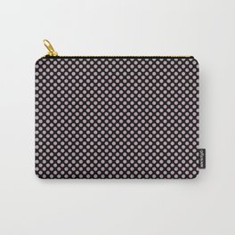 Black and Quartz Polka Dots Carry-All Pouch