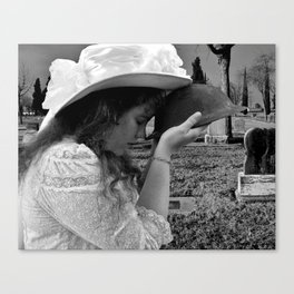 Gilded Memorial Black and White Canvas Print