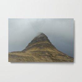 Kirkjufell in Fog Metal Print
