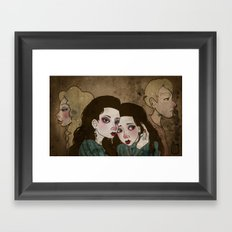 Twin Princesses Framed Art Print