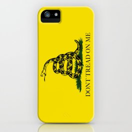 """Gadsden """"Don't Tread On Me"""" Flag, High Quality image iPhone Case"""