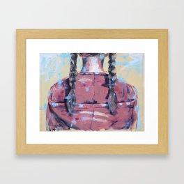 Big girl Framed Art Print