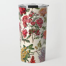 Vintage French Floral Print Travel Mug