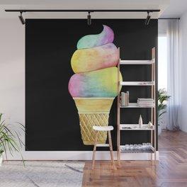 Rainbow Ice Cream Wall Mural