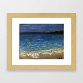 The beach Framed Art Print