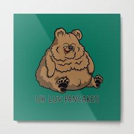 Pancake-Eating Bear Metal Print