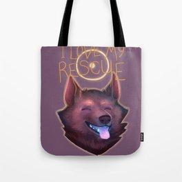 I Love My Rescue Tote Bag