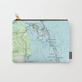 Vintage Southern Outer Banks Map (1957) Carry-All Pouch