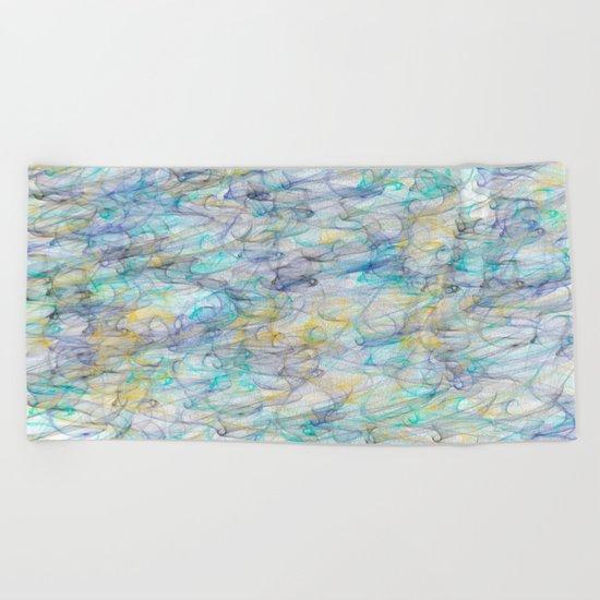 Smoke pattern Beach Towel
