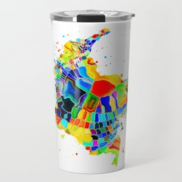 Colombia Map Travel Mug