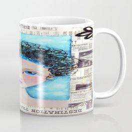 Whimiscal Girl with Curley Hair Coffee Mug