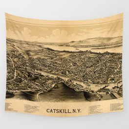 Map Of Catskill 1889 Wall Tapestry