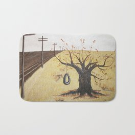 Tire Swing, Old Tree and Swing Painting Bath Mat