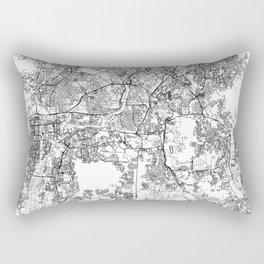 Kuala Lumpur White Map Rectangular Pillow
