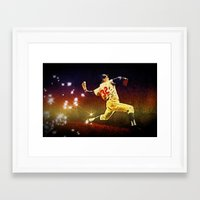 dodgers Framed Art Prints featuring Speed of light by 6-4-3
