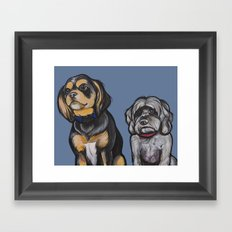 Charlie and Max Framed Art Print
