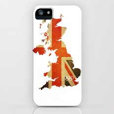 Union Jack Map - Olympics London 2012 iPhone (5, 5s) Slim Case
