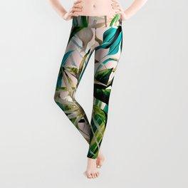 Pattern floral tropical 001 Leggings