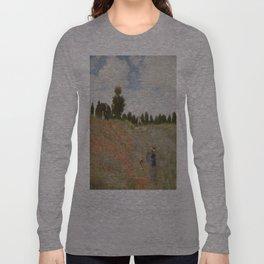 Claude Monet's Coquelicots: La Promenade Long Sleeve T-shirt