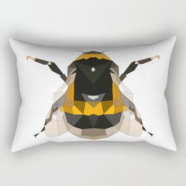 Bumble bee artwork Geomeric art Yellow and black Bee Midern design Rectangular Pillow