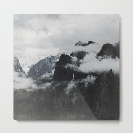 vintage mountains Metal Print