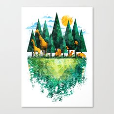 Geo Forest Canvas Print