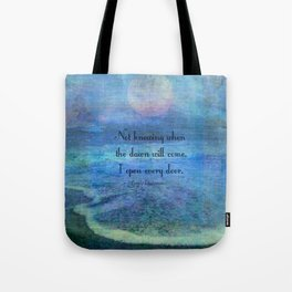 Emily Dickinson hope quote Tote Bag