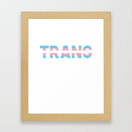 Protect Transgender Kids Framed Art Print