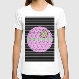 Death Star (Abstract, pastel, geometric artwork) T-shirt