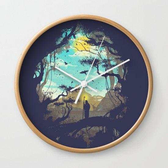The Guardian Of The Sun Wall Clock