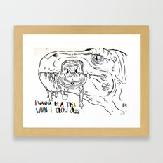 I Want to be a T-rex Framed Art Print